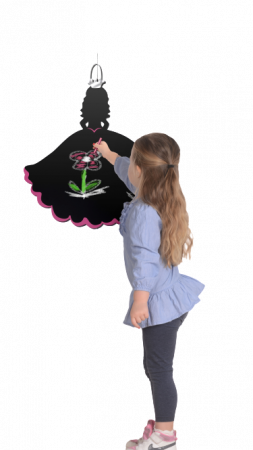 Tabla Printesa / Princess Chalkboard - Fiesta Crafts0