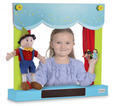 Teatru de papusi si magazin 2in1 / Carry Case Hand Puppet Theatre & Shop0