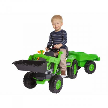 Tractor Big Jim cu pedale cupa si remorca [1]