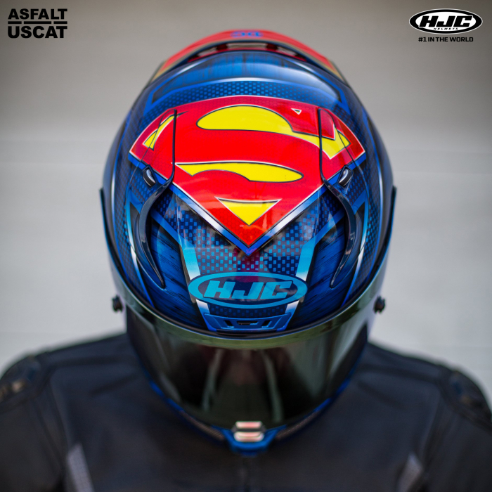 Casca moto integrala HJC RPHA 11 SUPERMAN DC Comics 4
