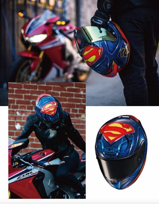 Casca moto integrala HJC RPHA 11 SUPERMAN DC Comics 8