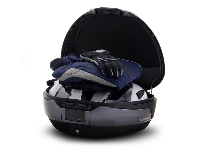 Top case SHAD SH48 Gri inchis with backrest, carbon cover and PREMIUN SMART lock [2]