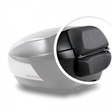 Top case SHAD SH48 Gri inchis with backrest, carbon cover and PREMIUN SMART lock [3]