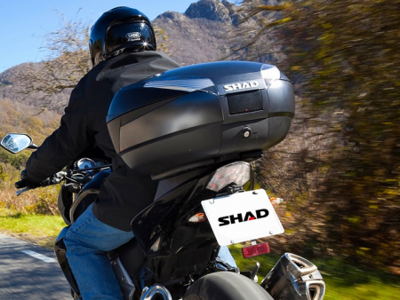 Top case SHAD SH48 Gri inchis with backrest, carbon cover and PREMIUN SMART lock [1]