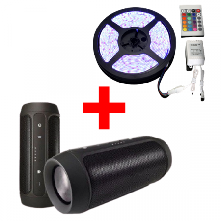 BOXA BLUETOOTH + BANDA LED 5 METRI0