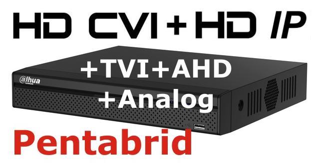DVR HD pentabrid 4+1 camere HD+IP DAHUA XVR4104HS-big