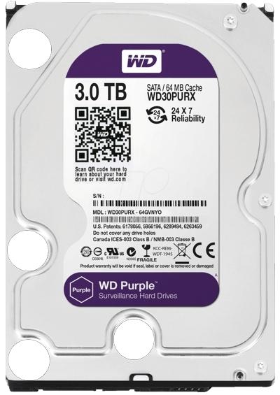 HARD DISK 3TB  WD Purple Surveillance-big
