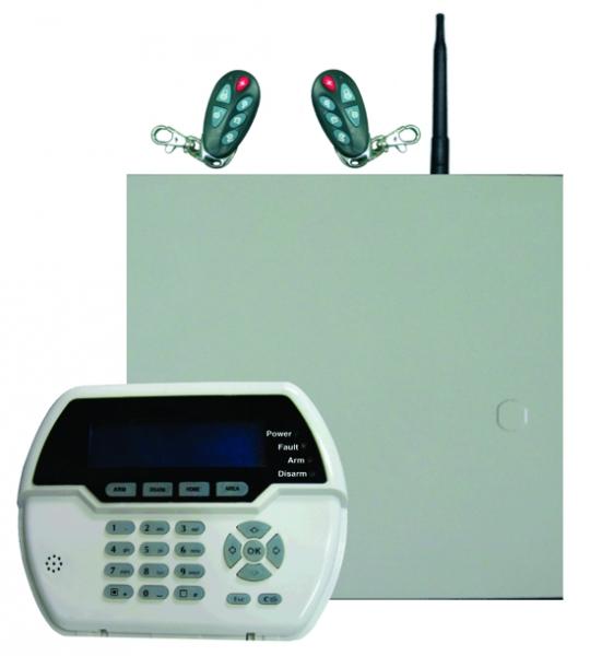 Sistem alarma hybrid (wireless+cablat) FORTEZZA PRO GSM COM8832, 8 partitii-big
