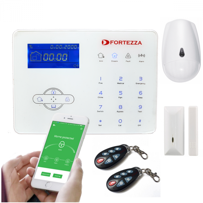 Alarma wireless FORTEZZA PRO GSM-M4D touch-big