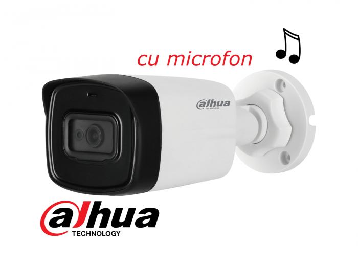 Camera de exterior DAHUA 8 Megapixeli 4K HDCVI HAC-HFW1800TL-A, cu microfon-big