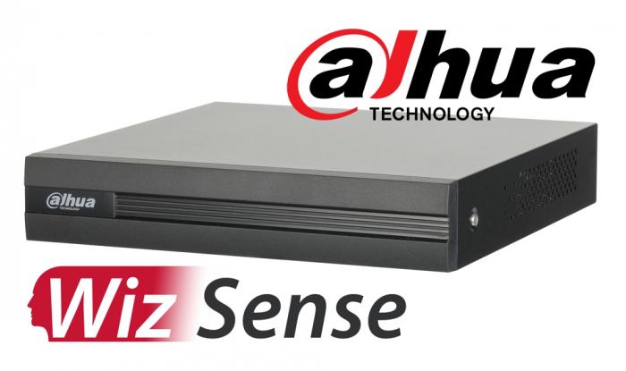 DVR 4K inteligent DAHUA WizSense XVR5108H-4KL-I2, pentabrid 8+8 camere analogice HD+IP, recunoastere faciala-big