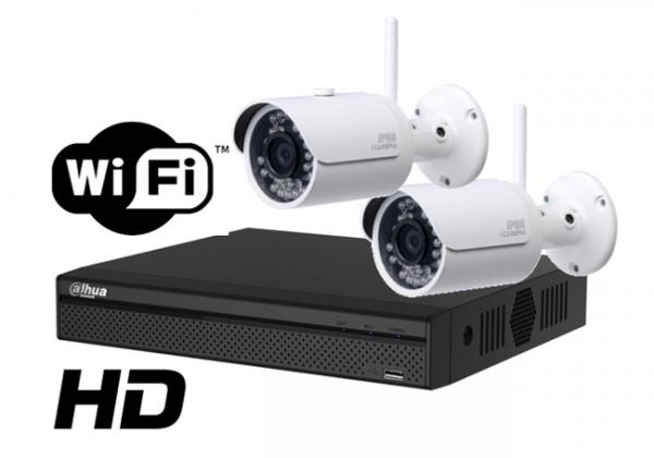 Kit wireless DAHUA IP HD 3 Megapixel supraveghere exterior Pro ve02IPHD_B-big