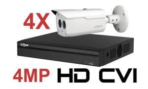 Kit DAHUA supraveghere HD exterior Pro ve04a4_cvi 4Megapixeli