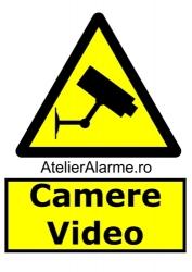 Semn avertizare camere video