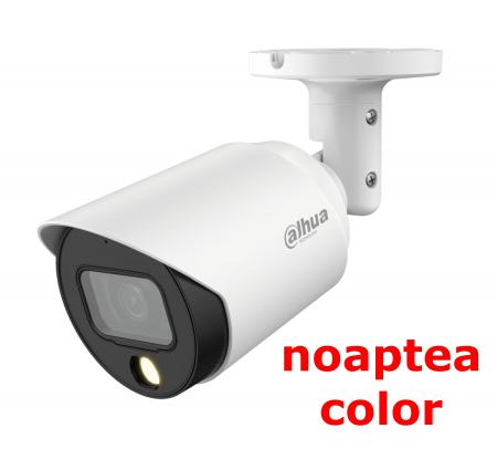 Camera full-color DAHUA de exterior cu microfon 5 Megapixeli  HAC-HFW1509T-A-LED