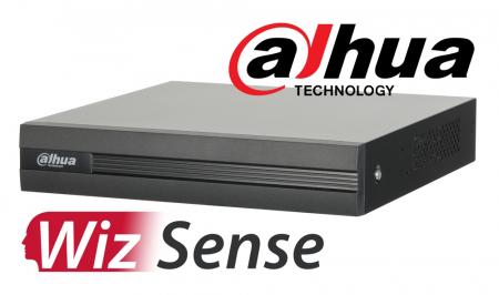 DVR 4K inteligent DAHUA WizSense XVR5108H-4KL-I2, pentabrid 8+8 camere analogice HD+IP, recunoastere faciala