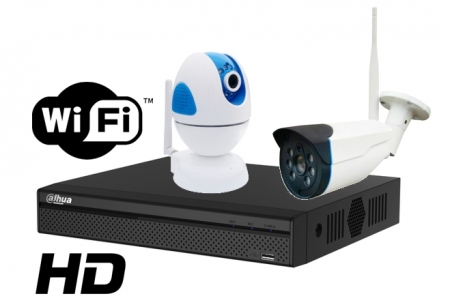 Kit wireless DAHUA IP HD 1 Megapixel supraveghere exterior Pro vm02IPHD_C0