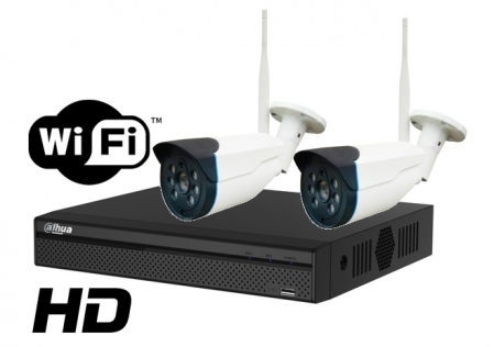 Kit wireless DAHUA IP HD 1 Megapixel supraveghere exterior Pro vm02IPHD_D