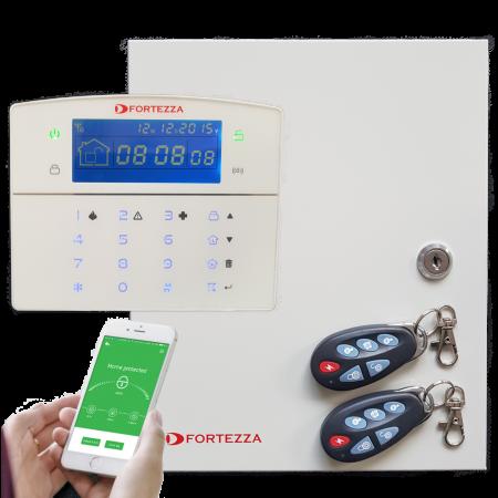 Sistem alarma hybrid (wireless+cablat) Fortezza Pro GSM/IP COM1832