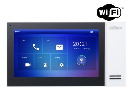 Videointerfon IP wireless (post de interior) Dahua VTH2421FW-P, display monitor 7 inches