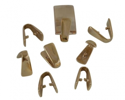 argintatatoare pandantiv din bronz  culoare aurie 17x8 mm [0]