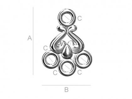 Baza cercei Chandelier argint 925 0