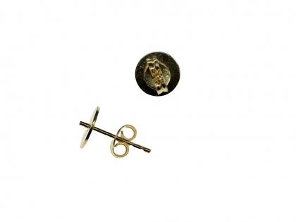 Baza cercei cu tija argint 925 placat cu aur galben D 8 mm 0