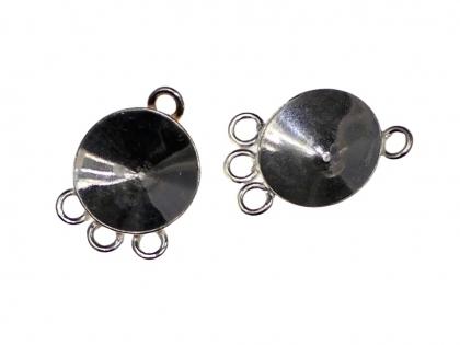 Baza cercei tip clips argint 925 D 12 mm [0]