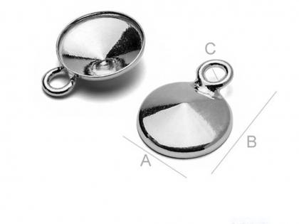Baza cercei tip clips argint 925 D 18 mm [0]