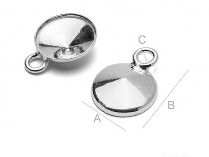 Baza charm argint 925 pentru cristale Swarovski SS 47  [0]