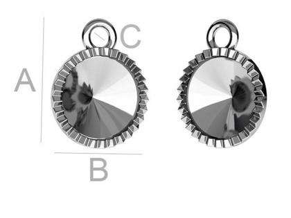 Baza pandantiv argint 925 L 12 mm [0]