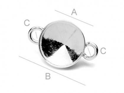 Baza conector argint 925 pentru cristale Swarovski [0]