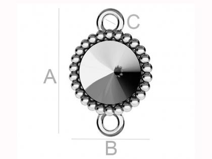 Baza conector argint 925 pentru cristale Swarovski 1122 SS 39  0