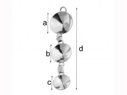 Baza din argint 925 pentru cristale Swarovski 1122 SS 47 MM 12 si MM 14 argint 925 0