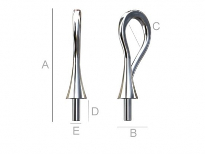 Baza pandantiv argint 925 L 16 mm 0