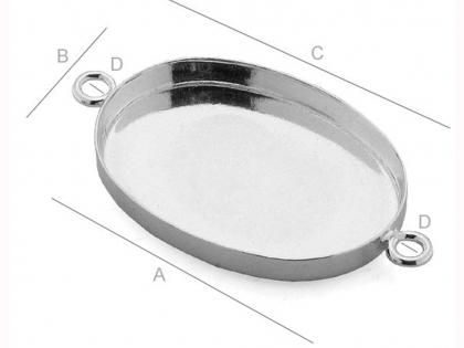 Baza cercel tip floare argint 925 D 12 mm [0]