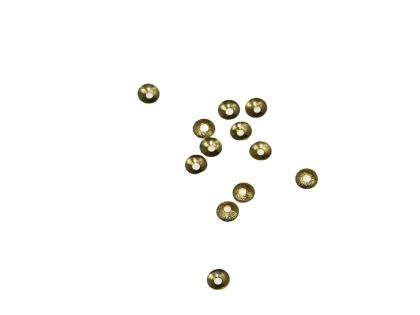 Capacele argint 925 placat cu aur galben D 4mm [0]