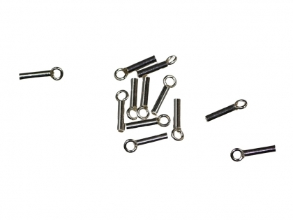 Capat snur cilindric argint 925 D interior 2 mm [0]