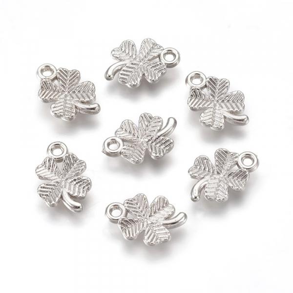 charm-frunza-trifoi-plastic-argintiu 1