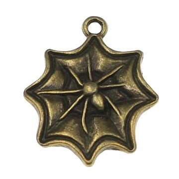 Charm paianjen bronz antichizat 0