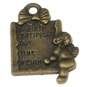 Charm tablita din bronz antichizat [0]