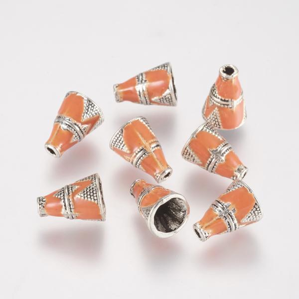 conuri-argintii-cu-email-portocaliu 1