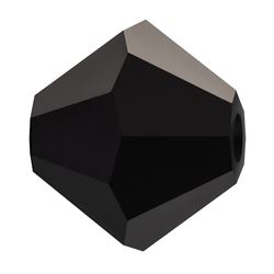Cristale biconice Preciosa® 3 mm jet [0]