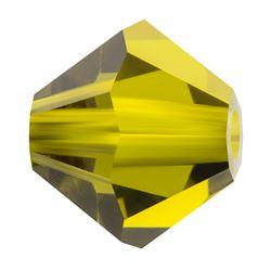 Cristale biconice Preciosa® 4 mm olivine [0]