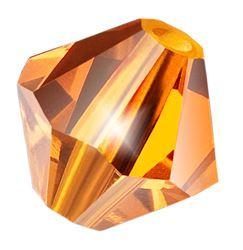 Cristale biconice Preciosa® 4 mm sun [0]