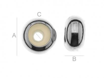 Distantier argint 925 cu interiorul siliconat 0