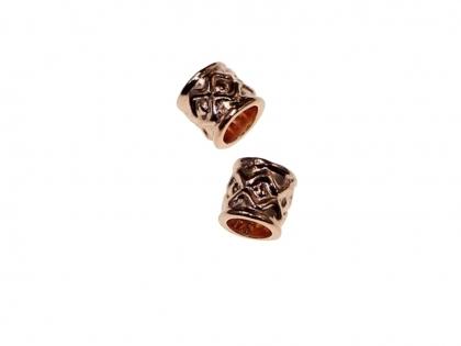 Distantier argint 925 placat cu aur roz L 6 mm D 6 mm [0]