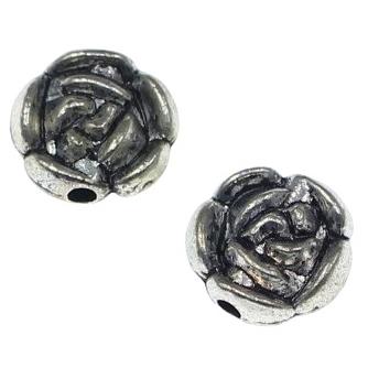 Margele metalice 15/12 mm argintiu antichizat [0]