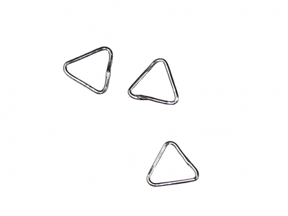 Distantiere triunghiulare argint 925 L 9 mm 0