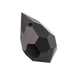 Drop Cristal Preciosa® 6.5x13 jet [0]